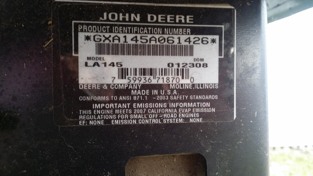 John deere la145 22 hp lawn tractor jds small engine sales this tractor would cost approximately 290000 set up quick sale 199500 for more information please call john on his landline at 780 672 7649 sciox Images